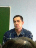 выступает Степан Маленцов председатель профсоюза Защита Электросила Санкт-Петербург.