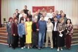 делегаты и гости съезда на коллективной фотографии.