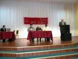 с привественным словом выступает гость съезда президент Фонда рабочей академии профессор Михаил Попов.