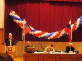 делегаты выступают